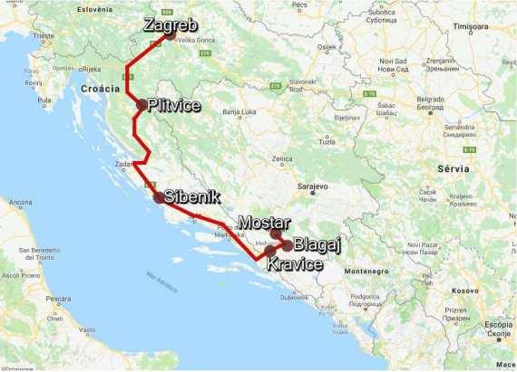 Mapa Mostar