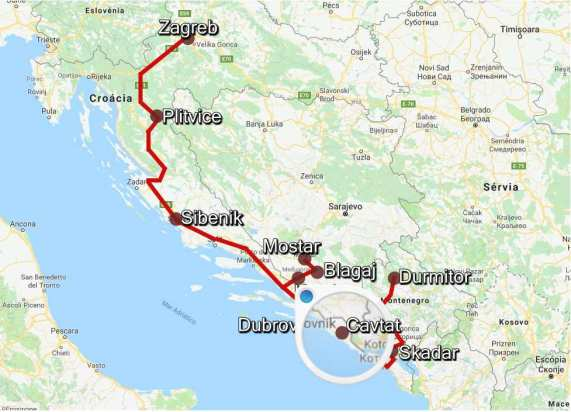 Mapa RoadTrip Cavtat