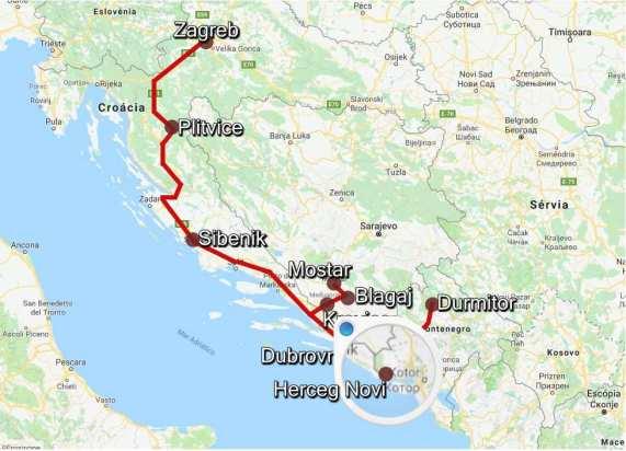 Mapa RoadTrip Herceg Novi